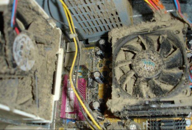 Poussière disque-dur ventilateur