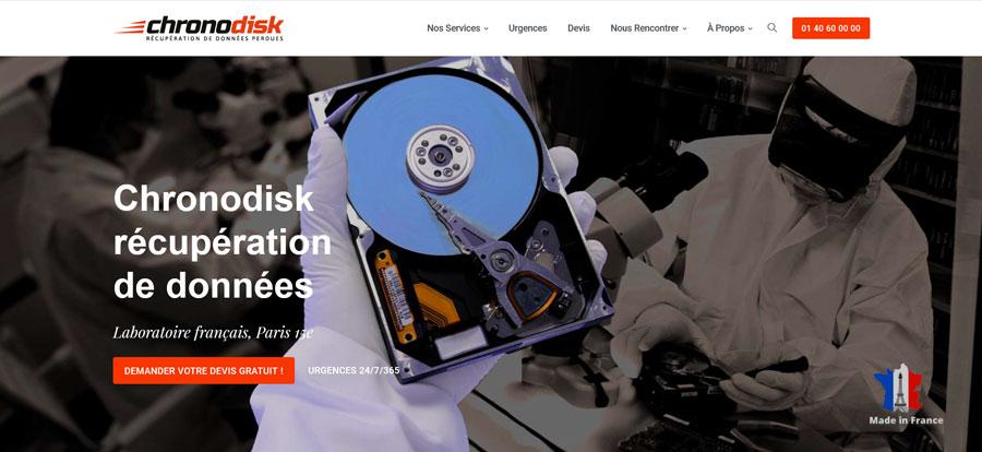 Le nouveau site de Chronodisk récupération de données Paris