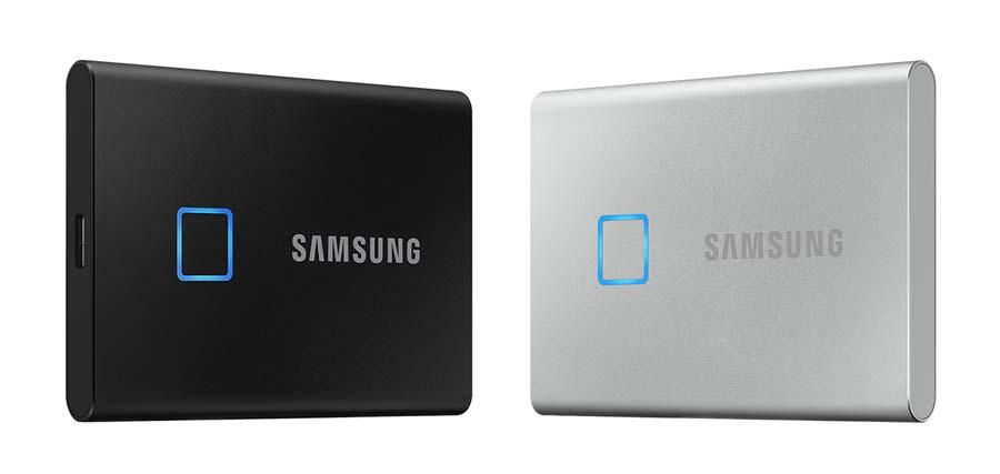 SSD T7 touch avec boîtier noir ou argent