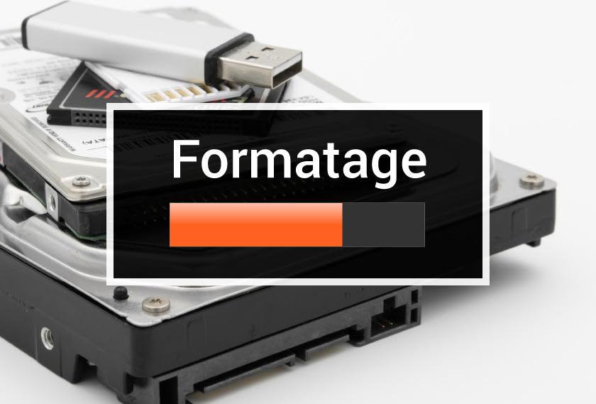 Formatage et récuperation de données
